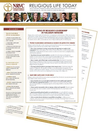 2020 Study Role of Leadership handout