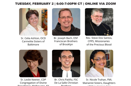 Online event for World Day for Consecrated Life Feb. 2