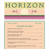 PDF of 2012 HORIZON No. 2 Spring and tablet files -- Vocations on campus