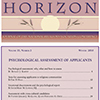 PDF of 2010 HORIZON No. 2 -- Psychological assessment of applicants